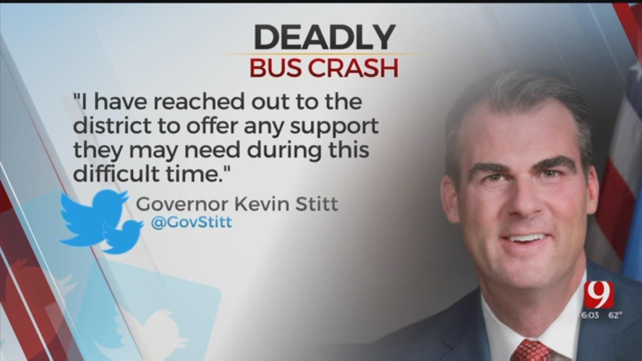 Governor Stitt Comments On Konawa Bus Crash