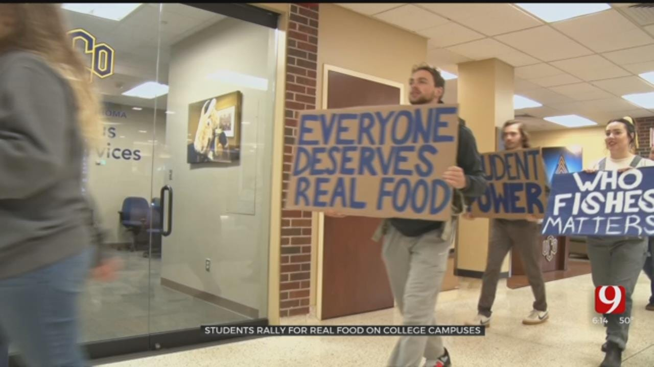 College Students Gather At UCO To Rally For Real Food