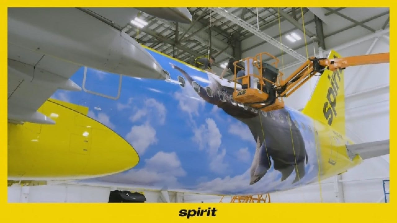 Spirit Airlines Takes Flight With Dumbo Themed Plane