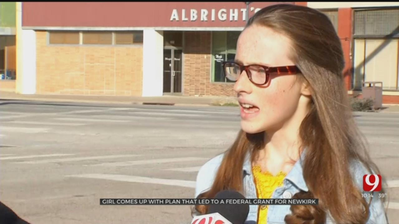 Young Girl Credited With Winning Federal Grant For City Of Newkirk