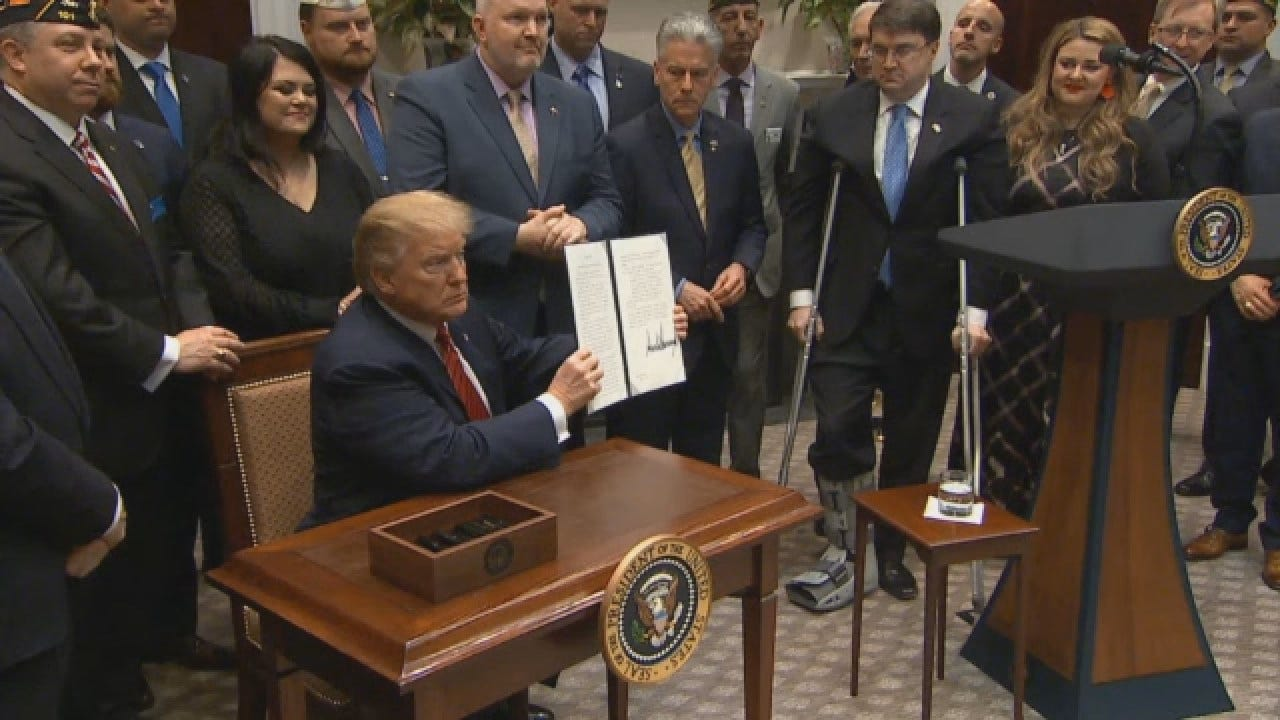 President Trump Signs Executive Order To Find Ways To Prevent Veteran Suicides