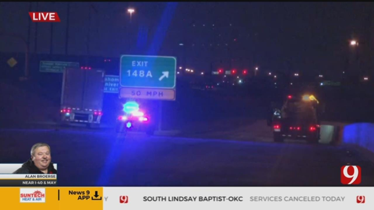 Road Conditions: Semi Wreck At I-40, May In OKC