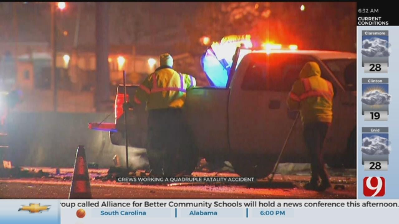 Crash Kills 4 In Downtown OKC, Troopers Say
