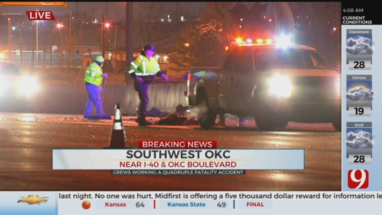 OHP Working Quadruple Fatality Collision In Downtown OKC