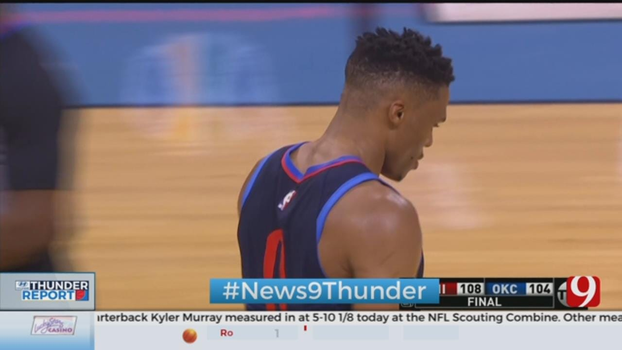 Thunder Loses 3rd Straight After Falling To 76ers, 108-104