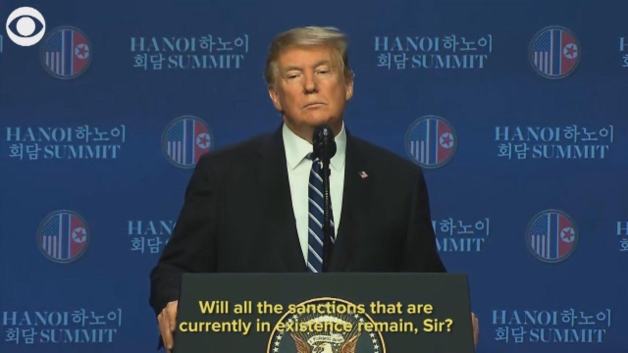 Trump: 'We Had To Walk Away' From Summit Talks With North Korea