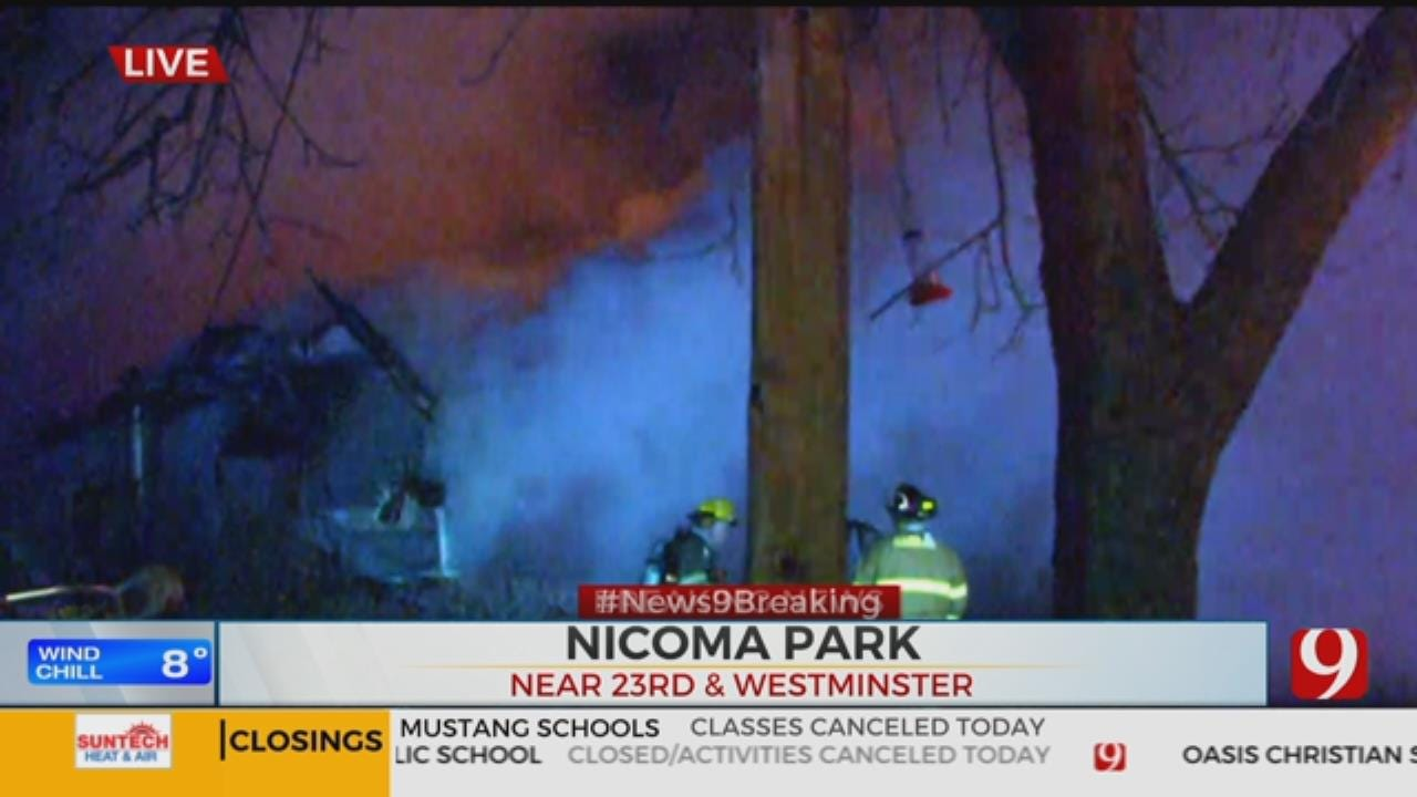 Firefighters Battle House Fire In Nicoma Park