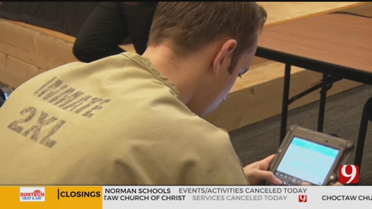 Cleveland County Jail Inmates Access Education Through Tablets