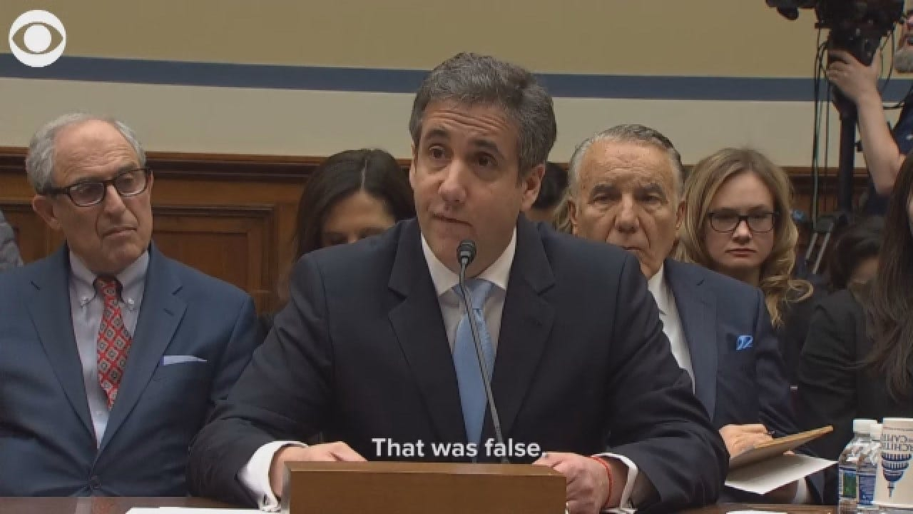 Cohen: 'I'm Here To Tell The Truth' After Lying To Congress