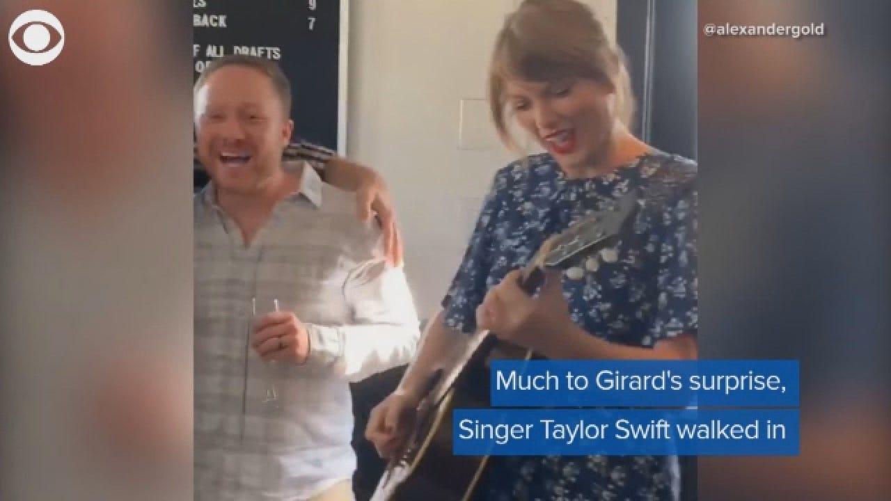 Man Surprises Fiancé With Taylor Swift At Engagement