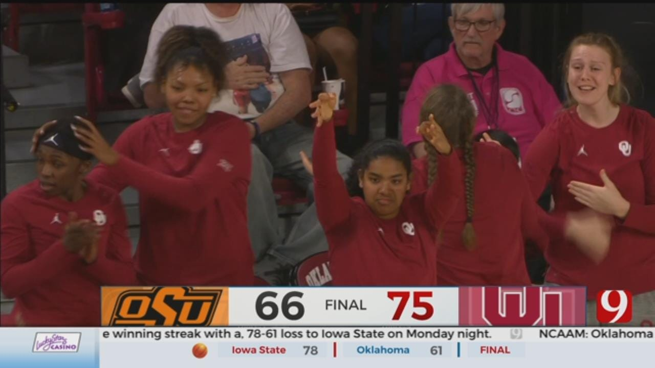Llanusa Double-Double Leads Sooners Past Cowgirls