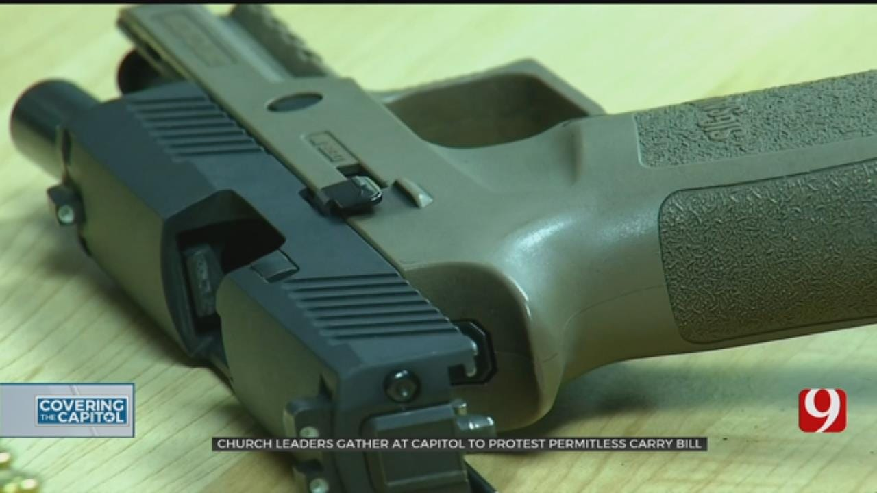 Faith Leaders Protest Permitless Carry At State Capitol