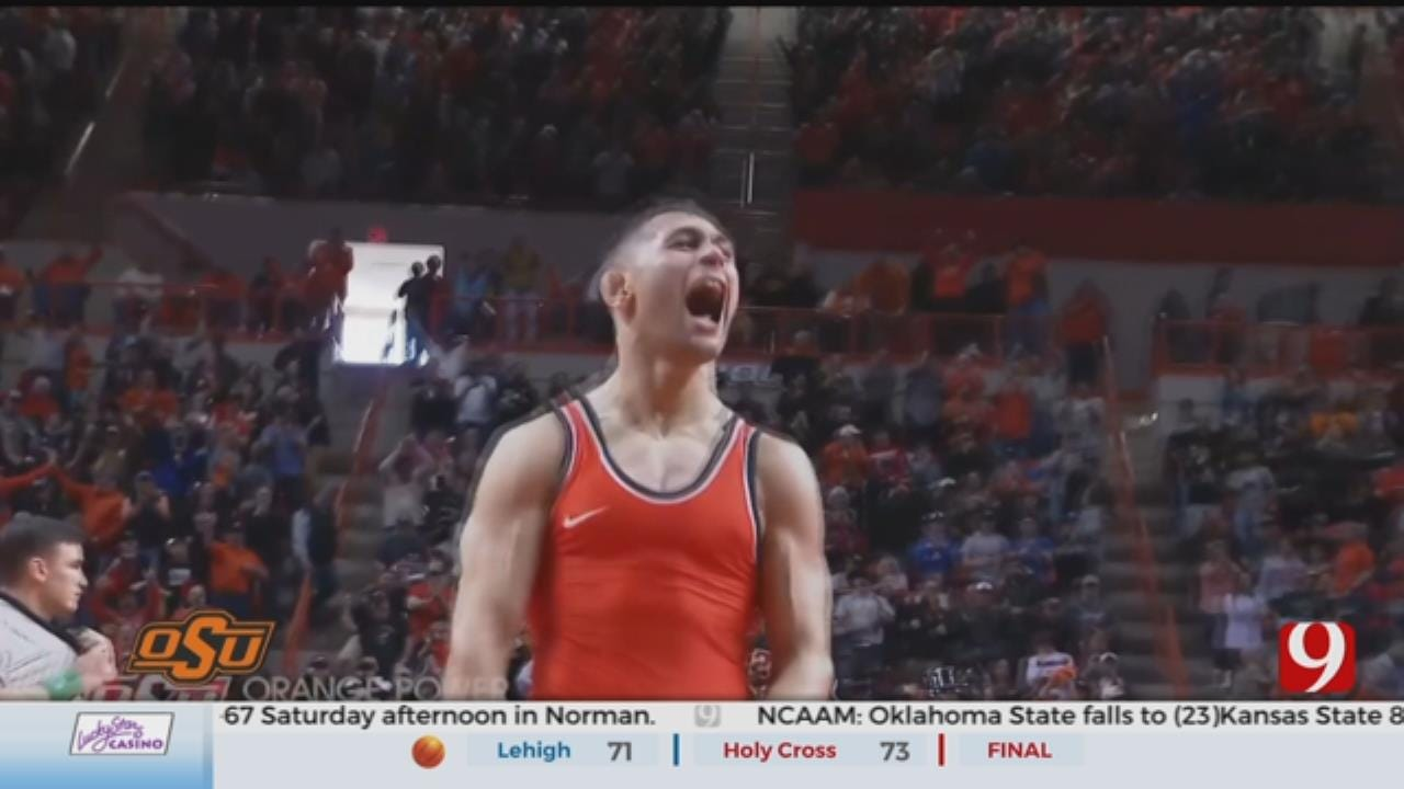 OSU Wrestling Caps Perfect Season By Beating Iowa In Front Of Sellout Crowd