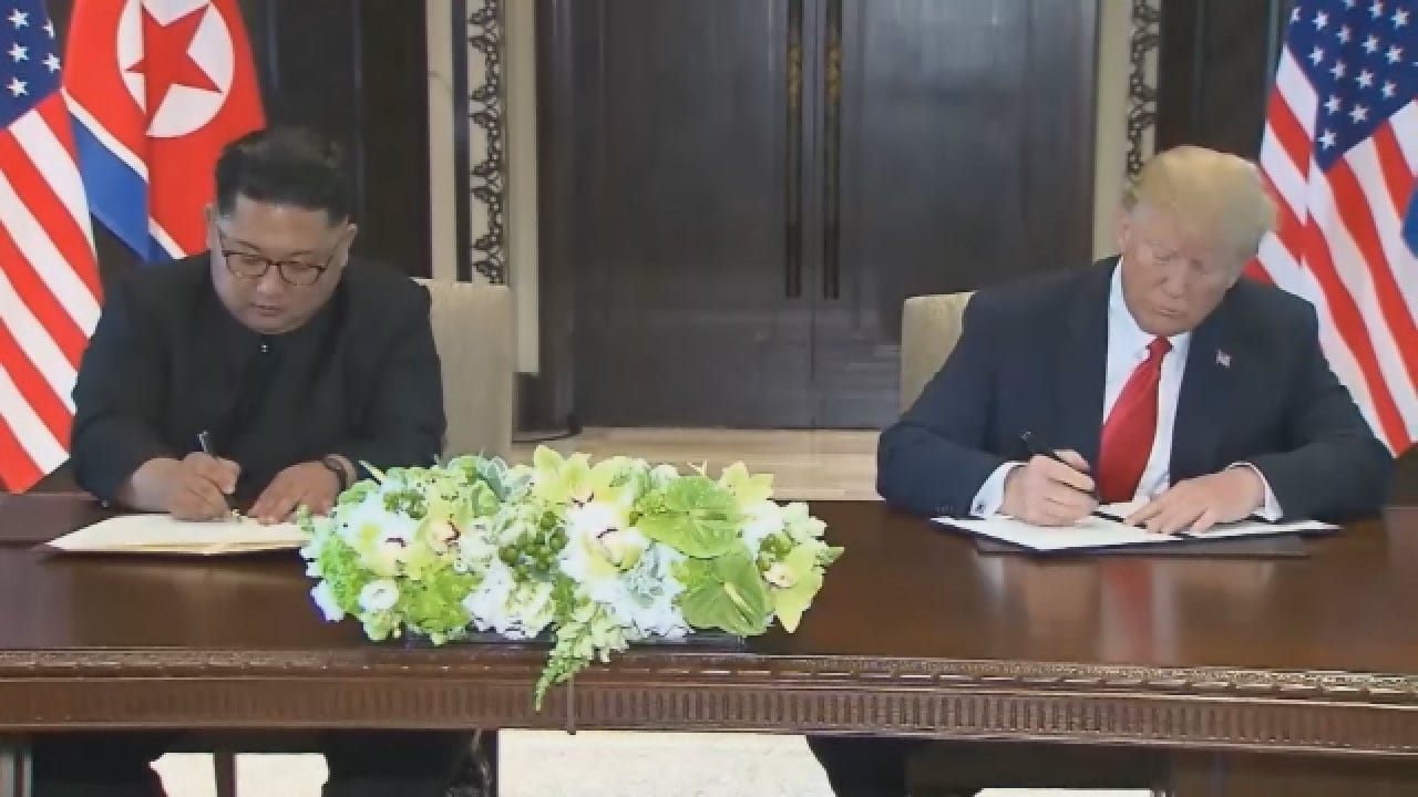 Trump Predicts A 'Very Tremendous Summit' With North Korea's Kim Jong Un