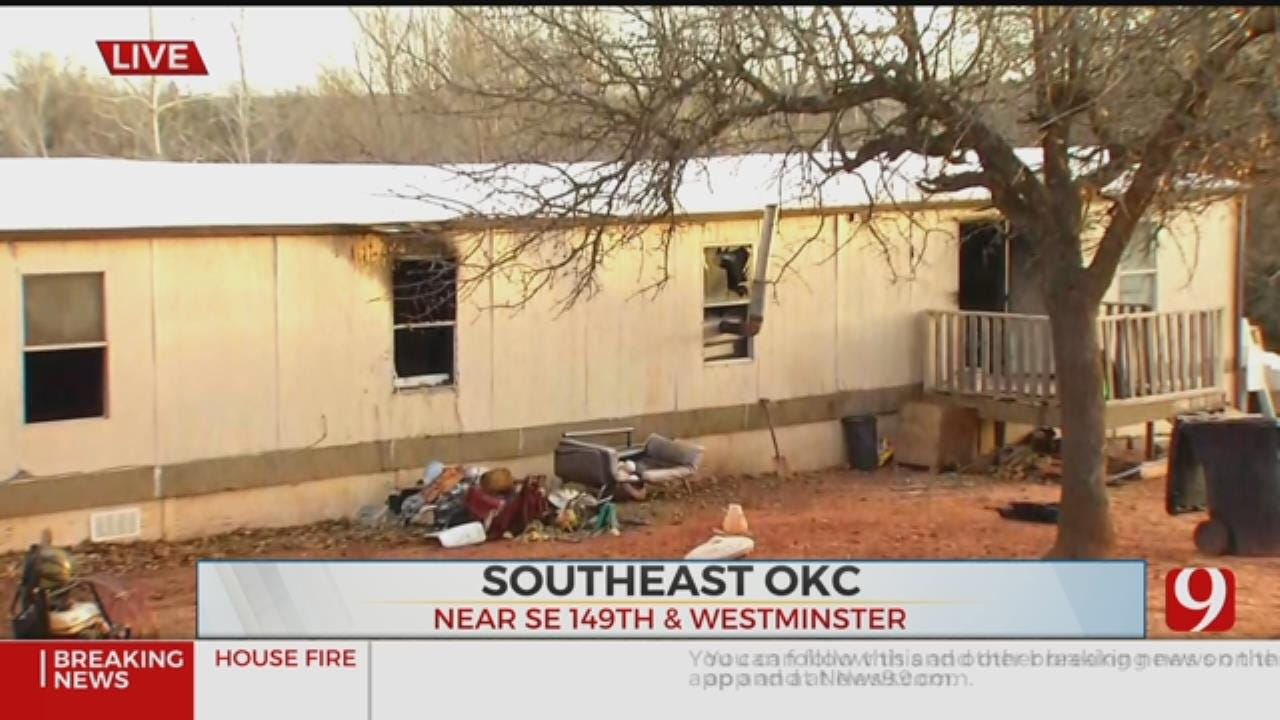 Firefighters Extinguish SE OKC Mobile Home Fire