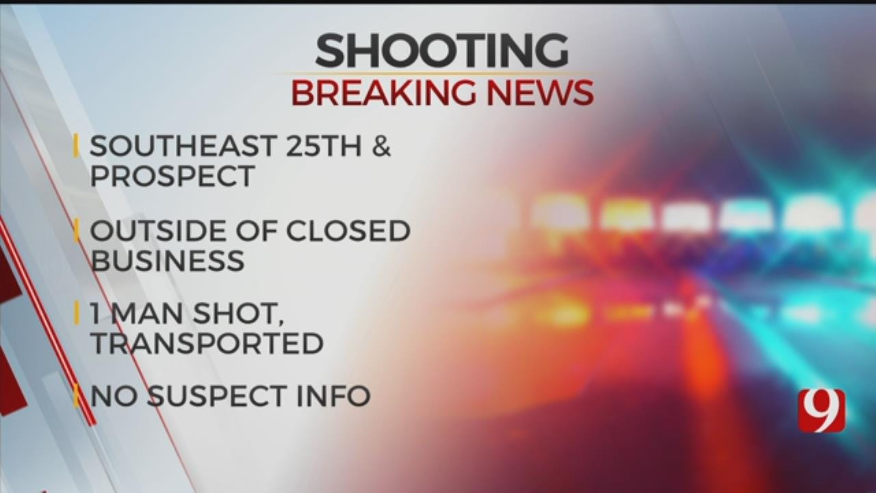 1 Transported To Hospital After Shooting in OKC