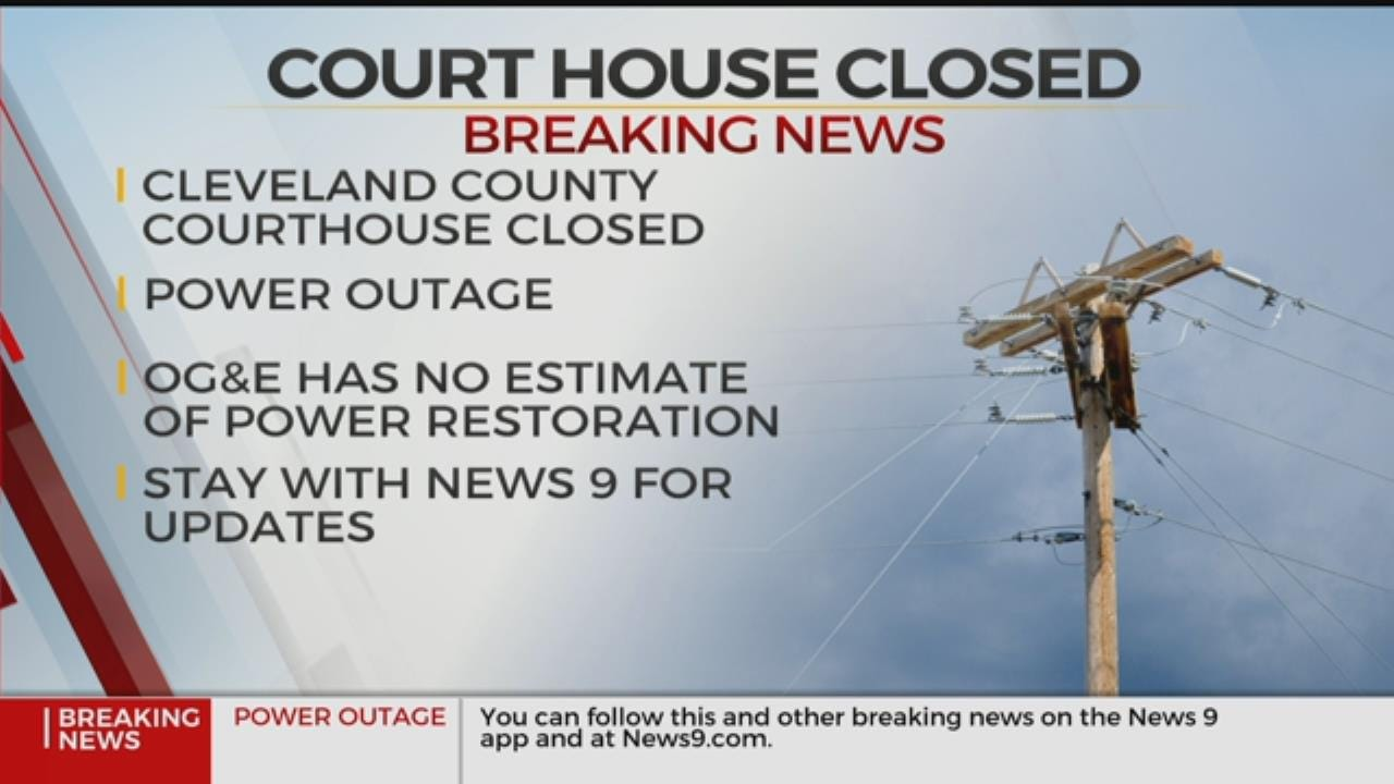 Cleveland County Courthouse Closed Due To Power Outage