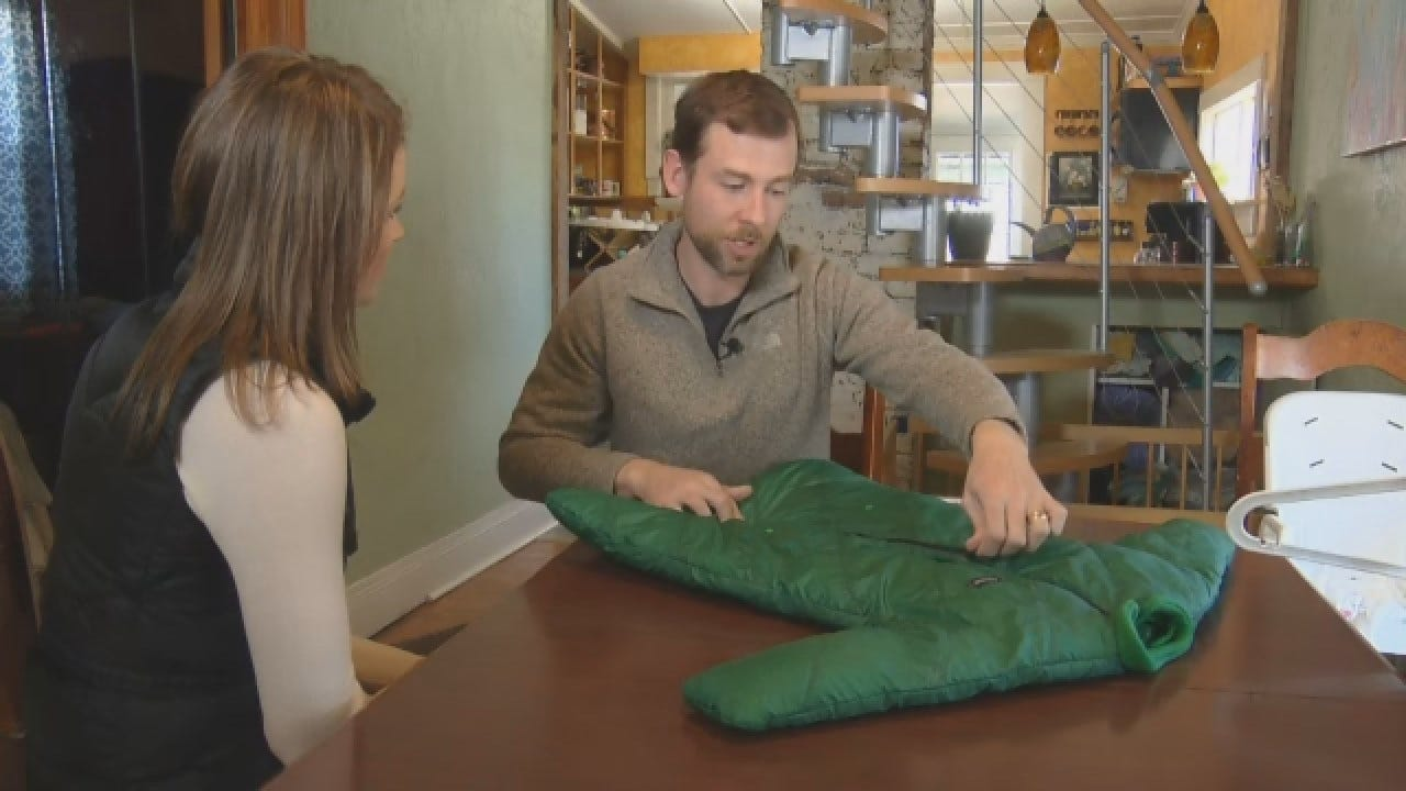 Dad Designs Sleeping Bags For Babies