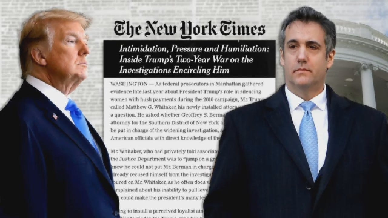 Trump Reportedly Wanted A Loyalist To Oversee Michael Cohen Investigation
