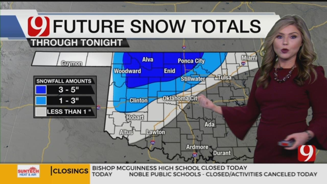 Tuesday Afternoon Winter Weather Forecast
