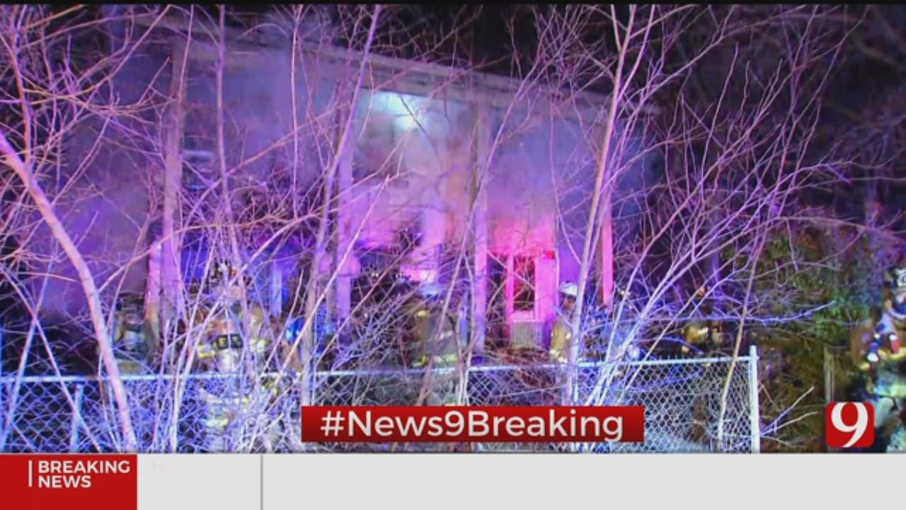 Firefighters Battle Vacant House Fire In SW OKC