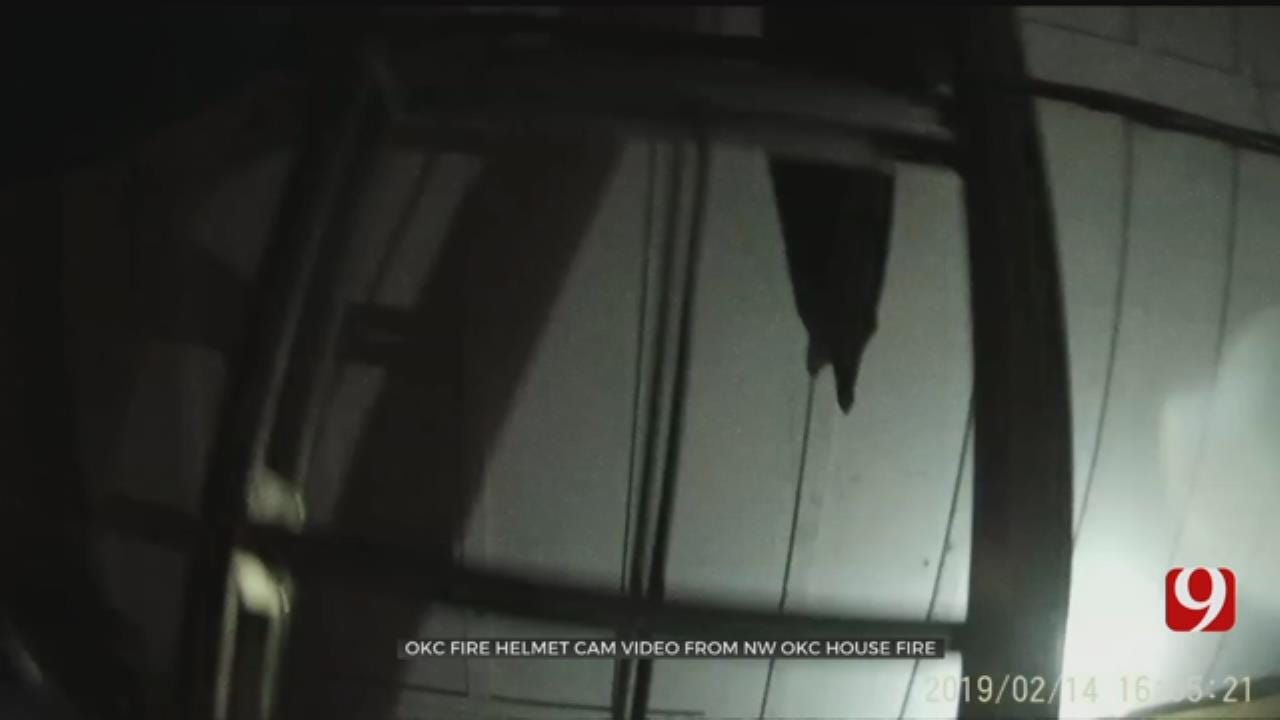 Helmet Cam Video Shows Rescue Attempt NW Oklahoma City Fire