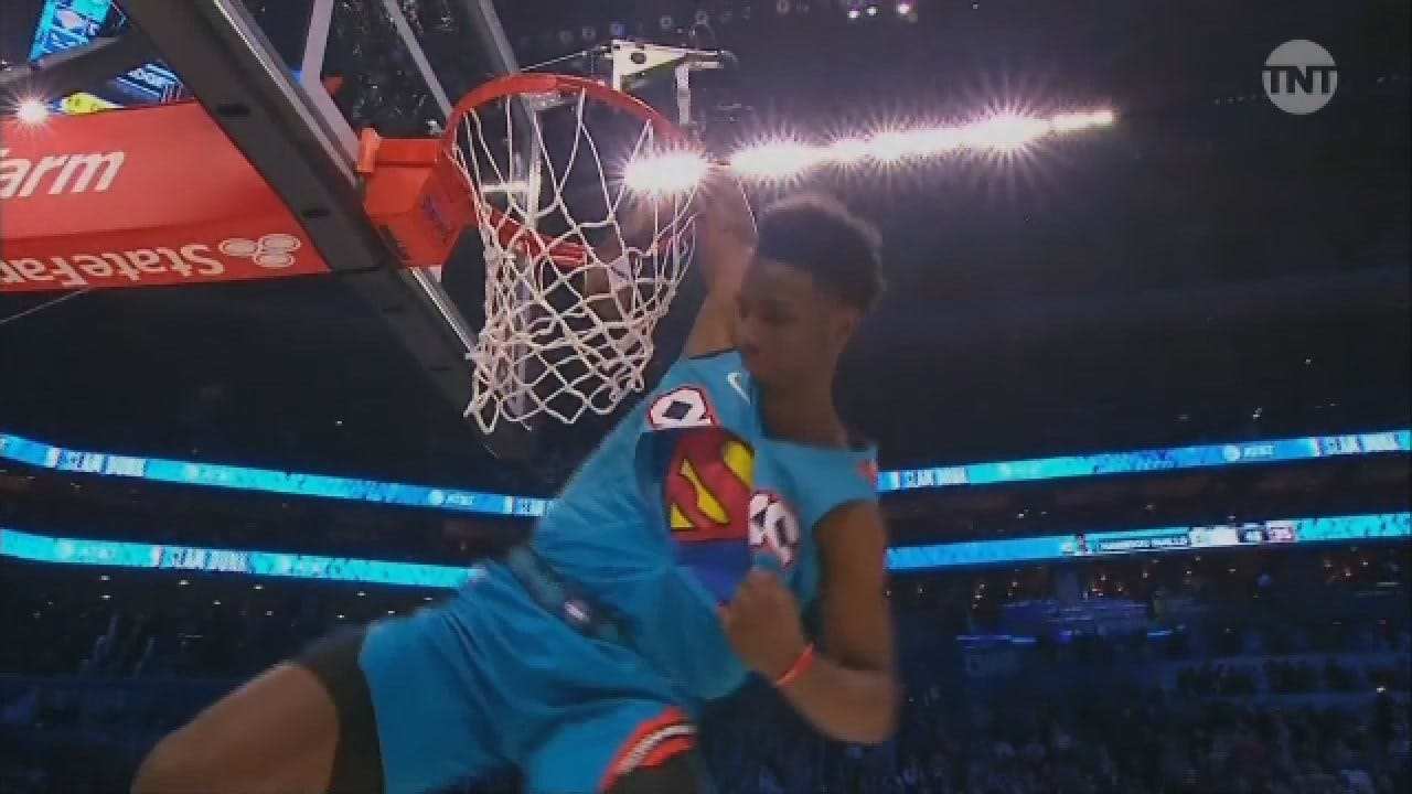 WATCH: OKC Thunder's Diallo Dunks Over Shaq To Win All-Star Slam-Dunk Contest