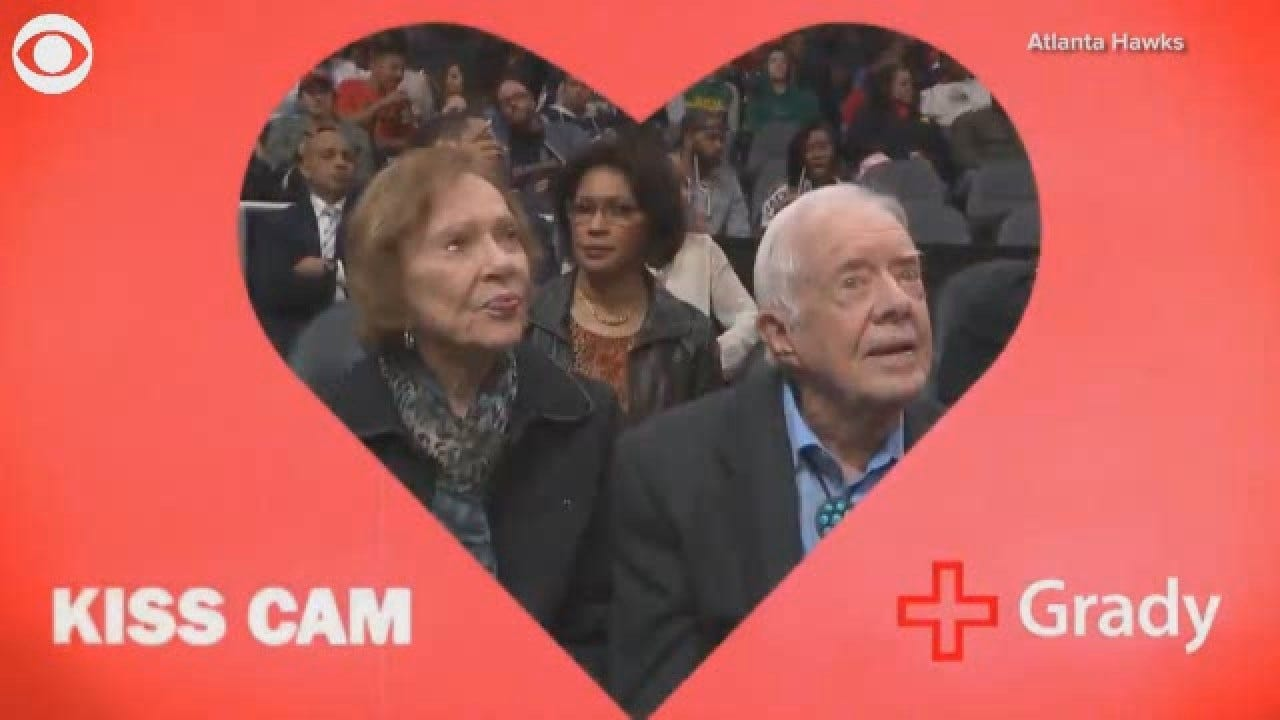 Former President Carter, First Lady Caught On Kiss Cam