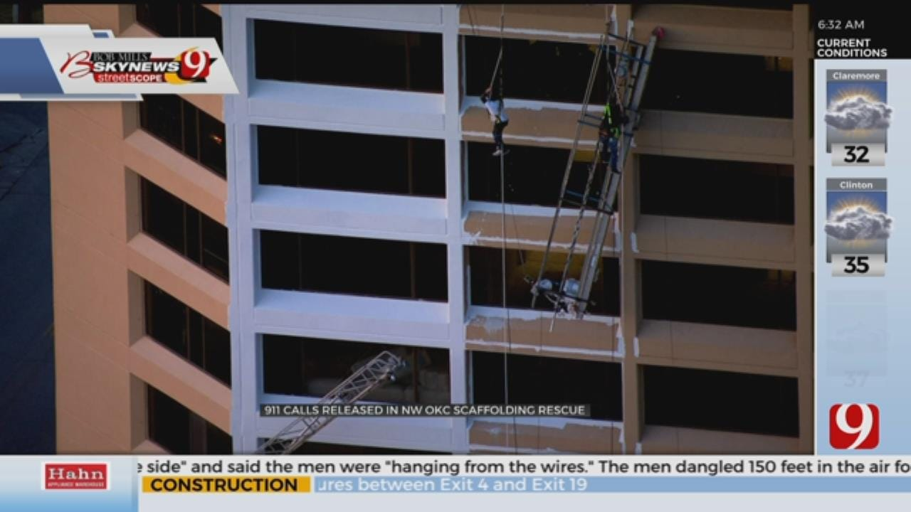 911 Calls Released In NW OKC Scaffolding Rescue