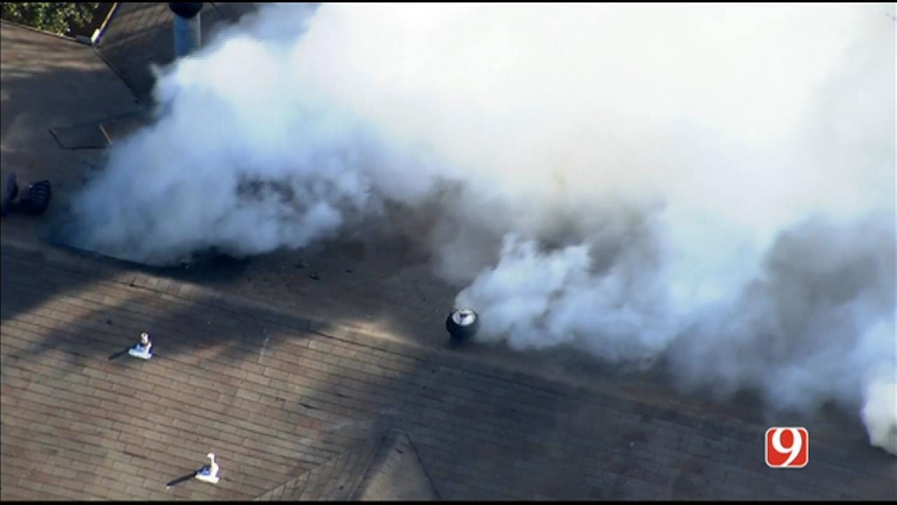 Firefighters Battle NW OKC Condominium Fire