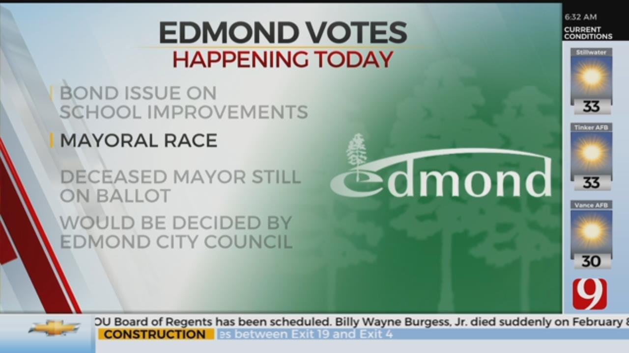 Edmond Residents Head To Polls Folls For Bonds, Mayoral Election
