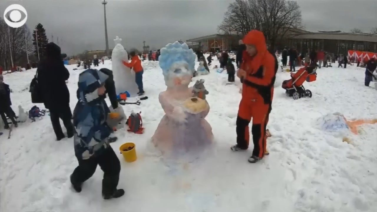 More Than 1,000 Competed In 'The Battle Of The Snowmen'