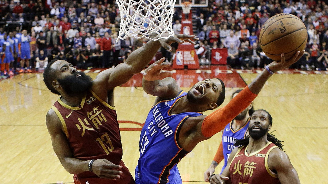 George, Westbrook Rally Thunder Past Rockets, 117-112