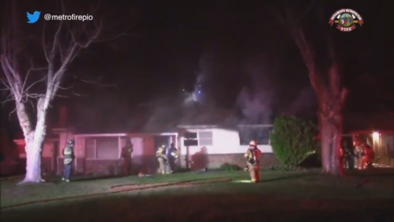 Heroic Firefighters Save Dog From House Fire