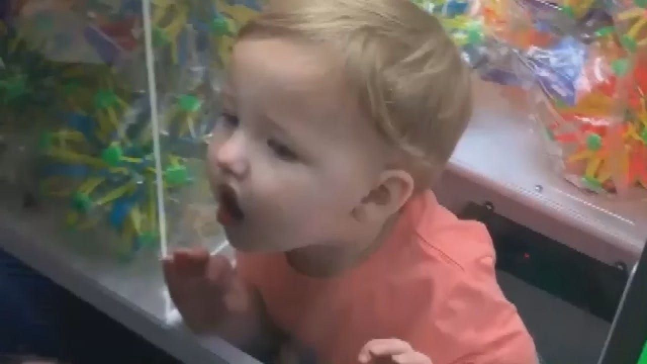 2-Year-Old Climbs Into 'Claw' Machine, Gets Trapped