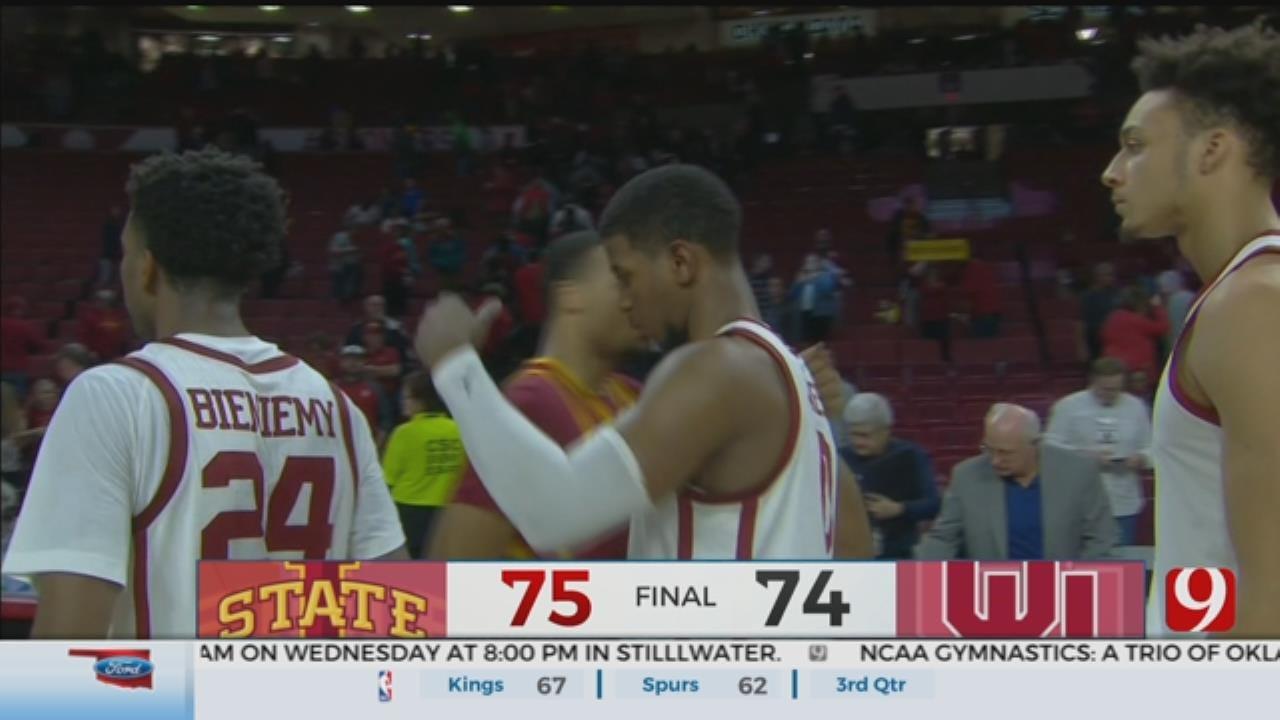 No. 17 Iowa State Beats Oklahoma 75-74