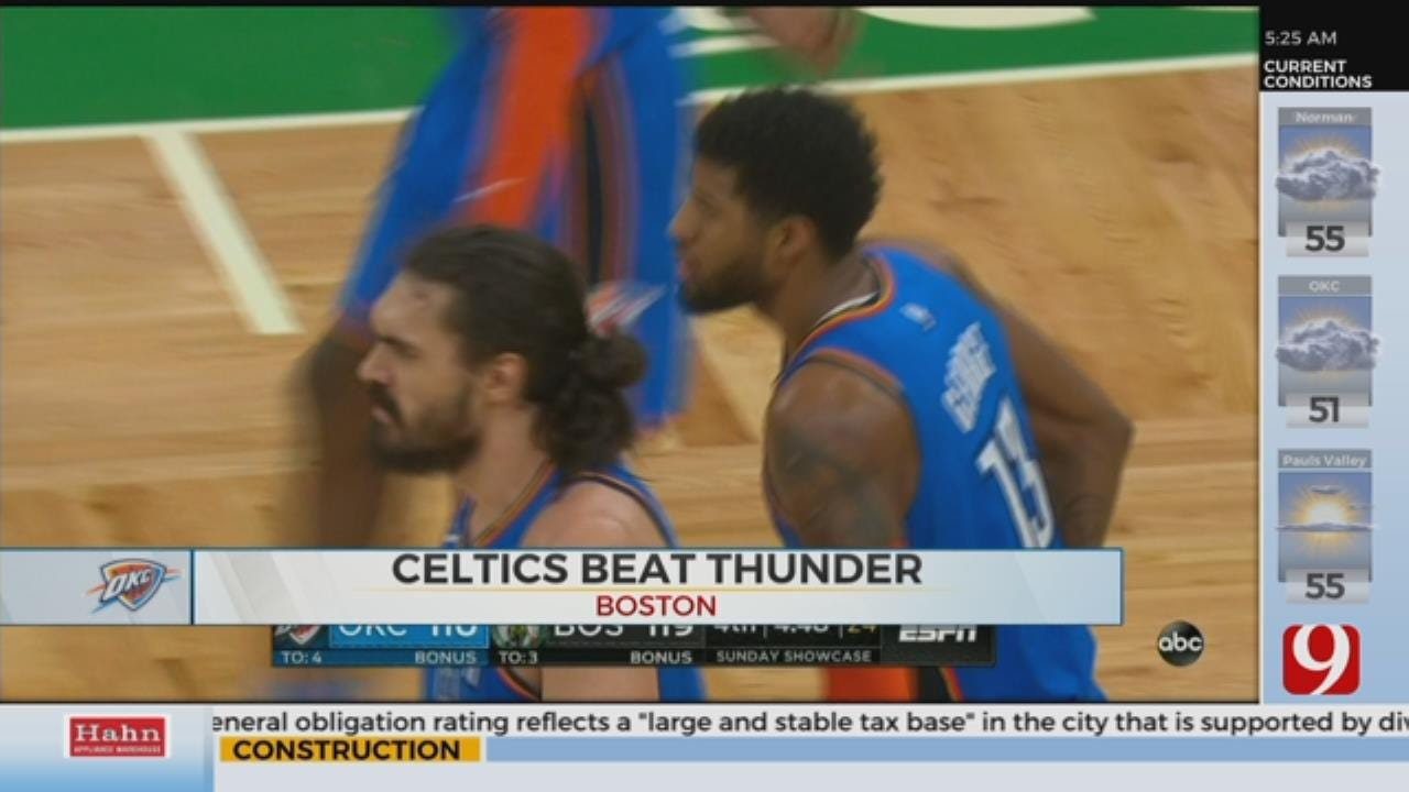 Morning Recap Of Thunders Loss To The Celtics