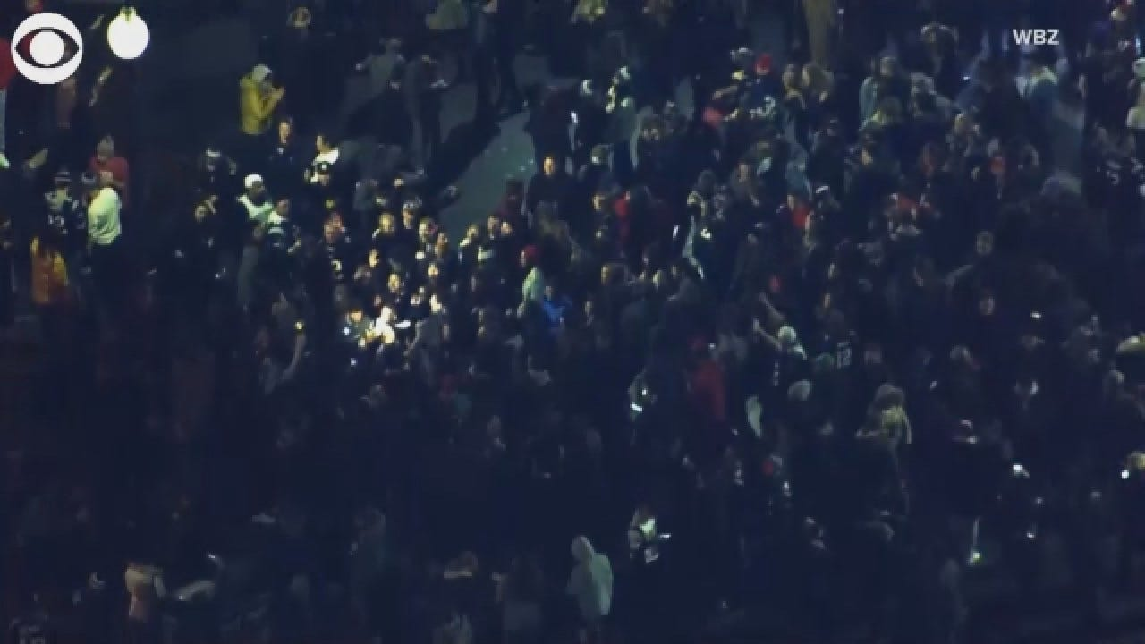 Patriots Fans Celebrate In The Streets Of Boston