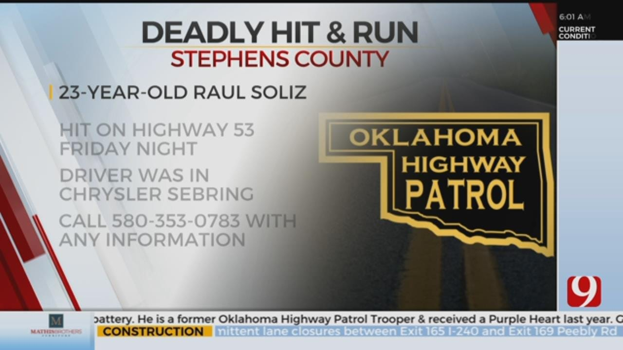 OHP Searching For Fatal Hit And Run Suspect