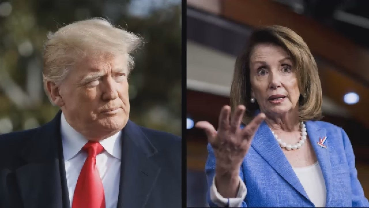 Trump Says Pelosi Wants Open Borders In 'Face The Nation' Interview