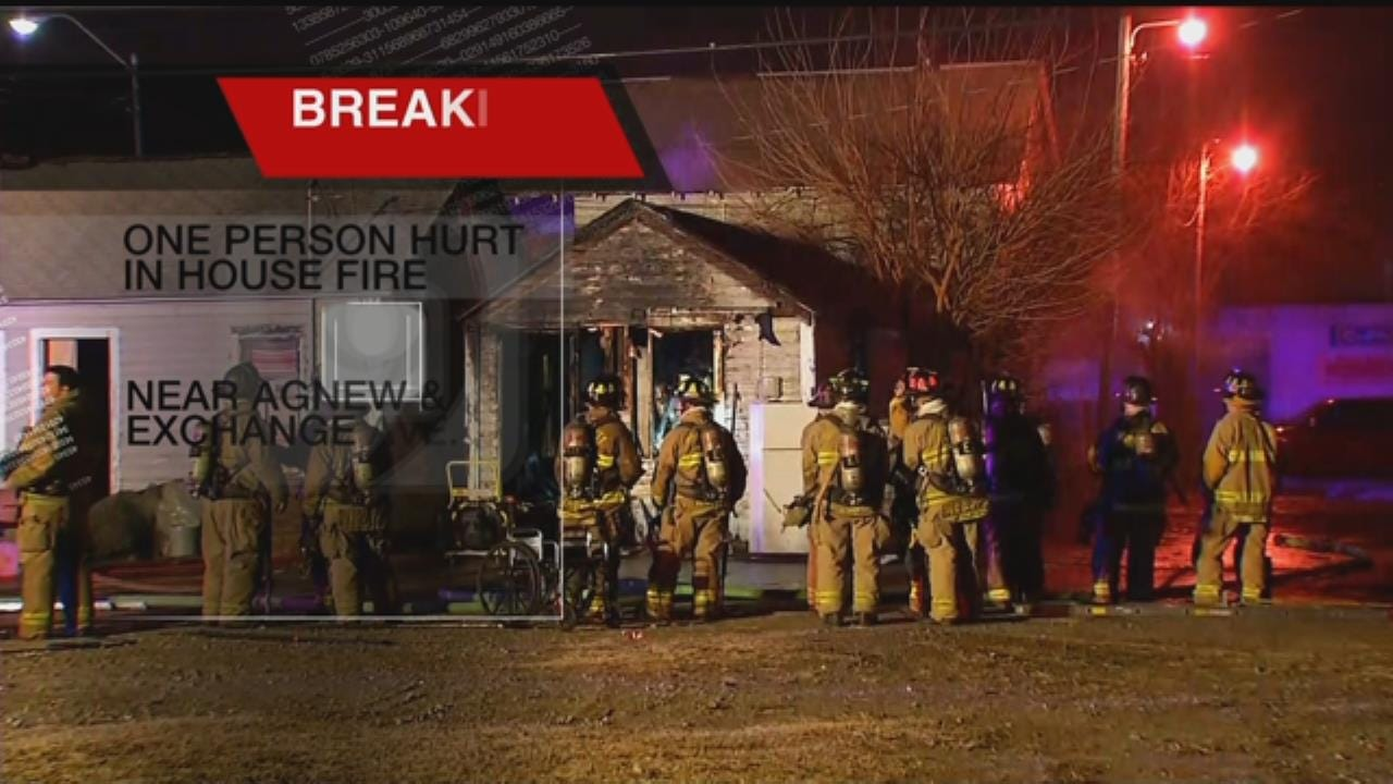 1 Transported To Hospital After House Fire In SW OKC