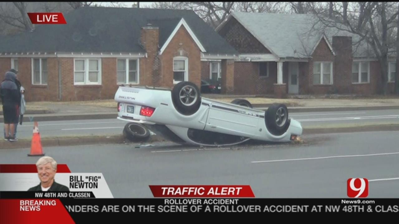 Traffic Alert: Crews Working Rollover Accident In NW OKC