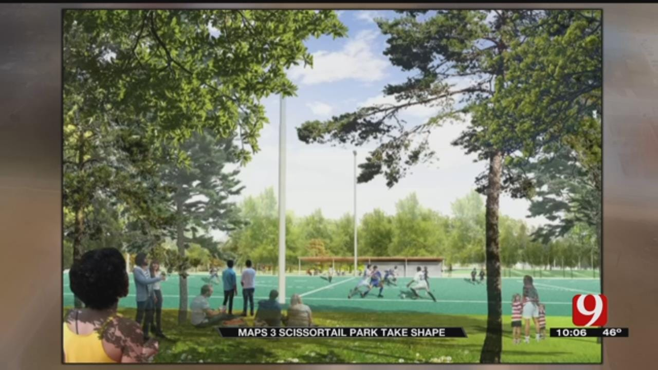OKC Residents Get A Look At New Scissortail Park Progress