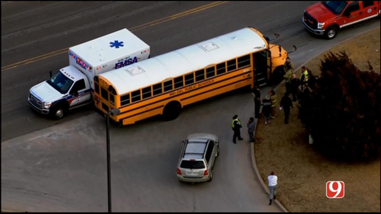 Bob Mills SkyNews 9 Flies Over A Crash Involving School Bus