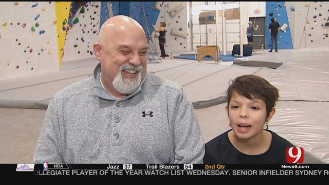WATCH: Norman 10-Year-Old Has Big Climbing Goals
