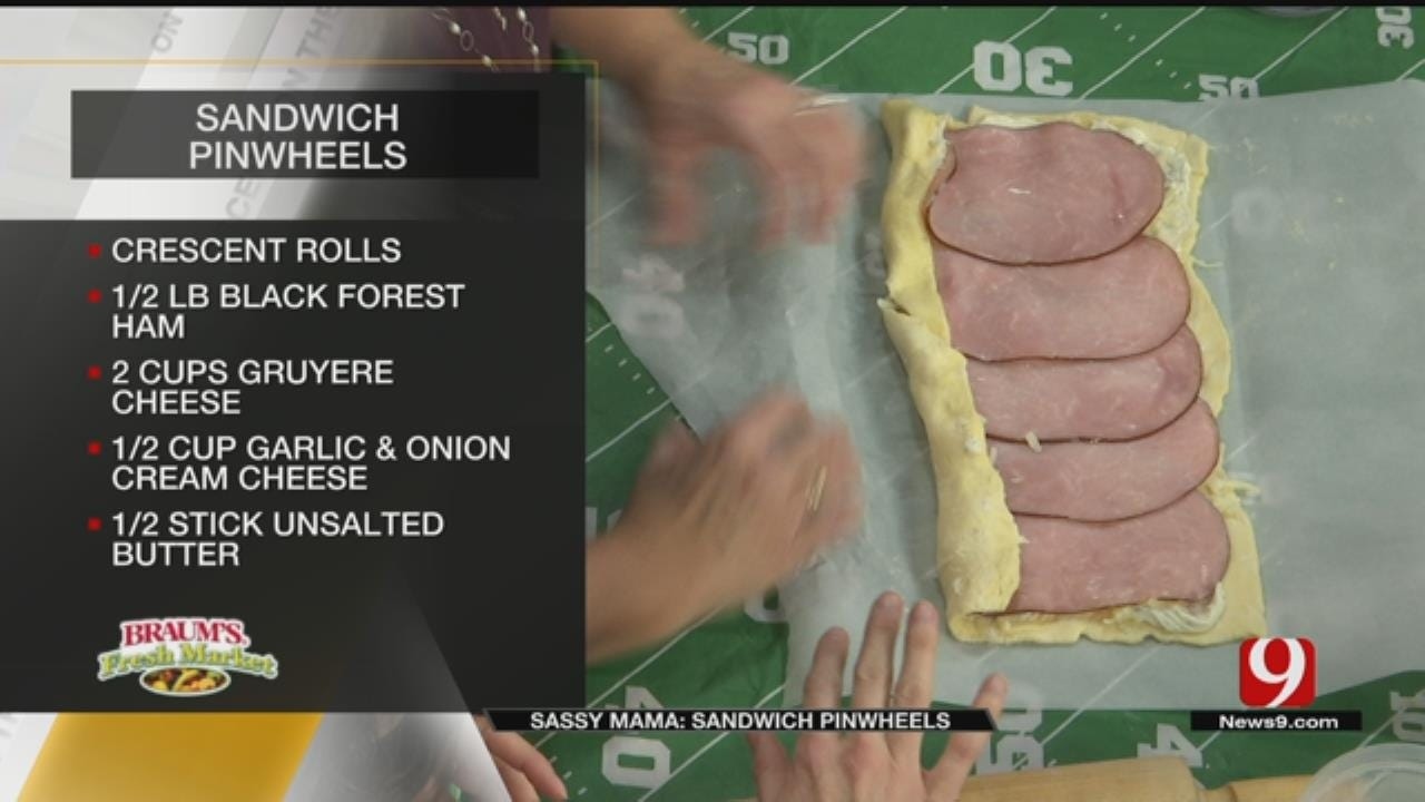 Sassy Tailgate Sandwich Pinwheels
