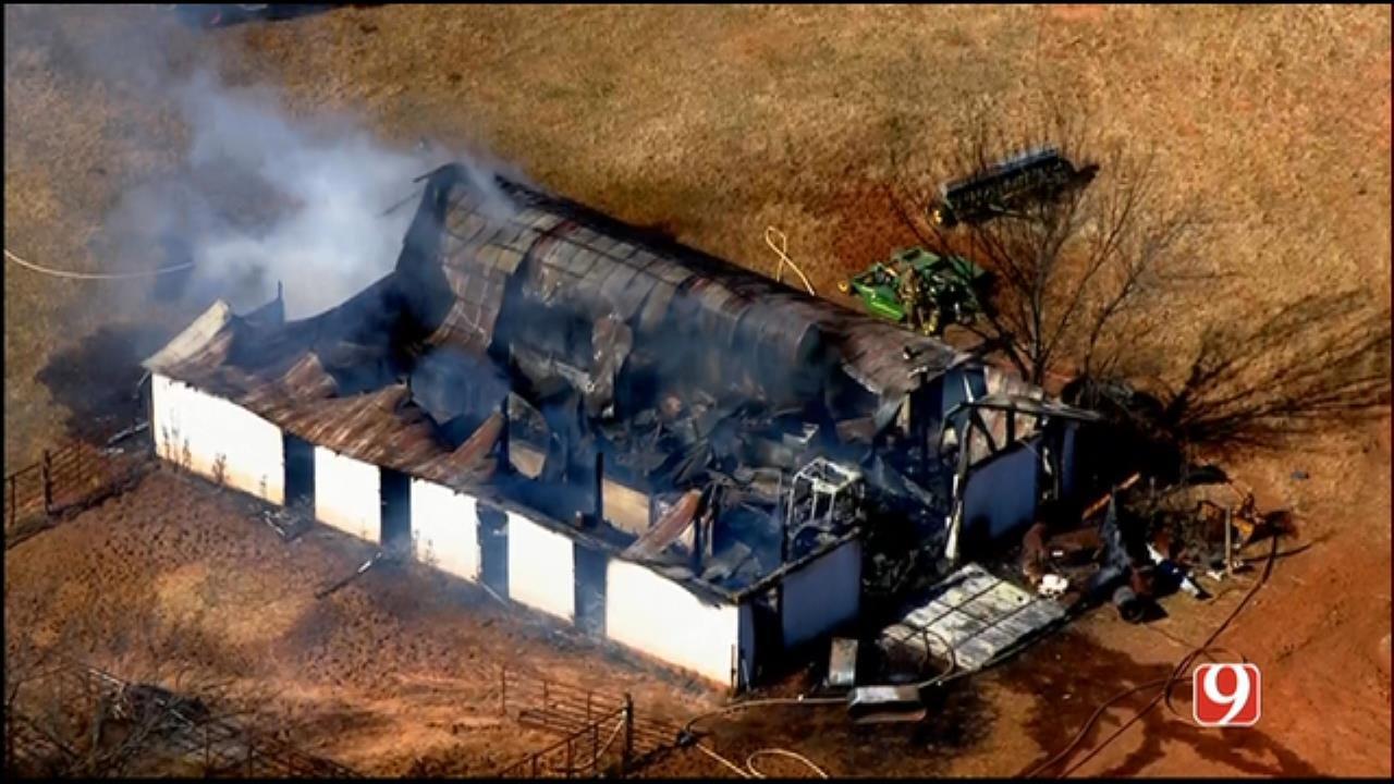 Fire Crews Put Out Little Axe Structure Fire