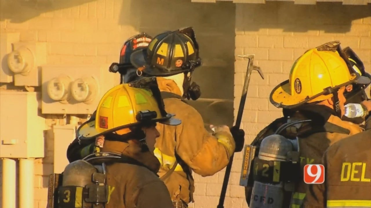 Multiple Fire Crews Knock Down Del City Apartment Fire