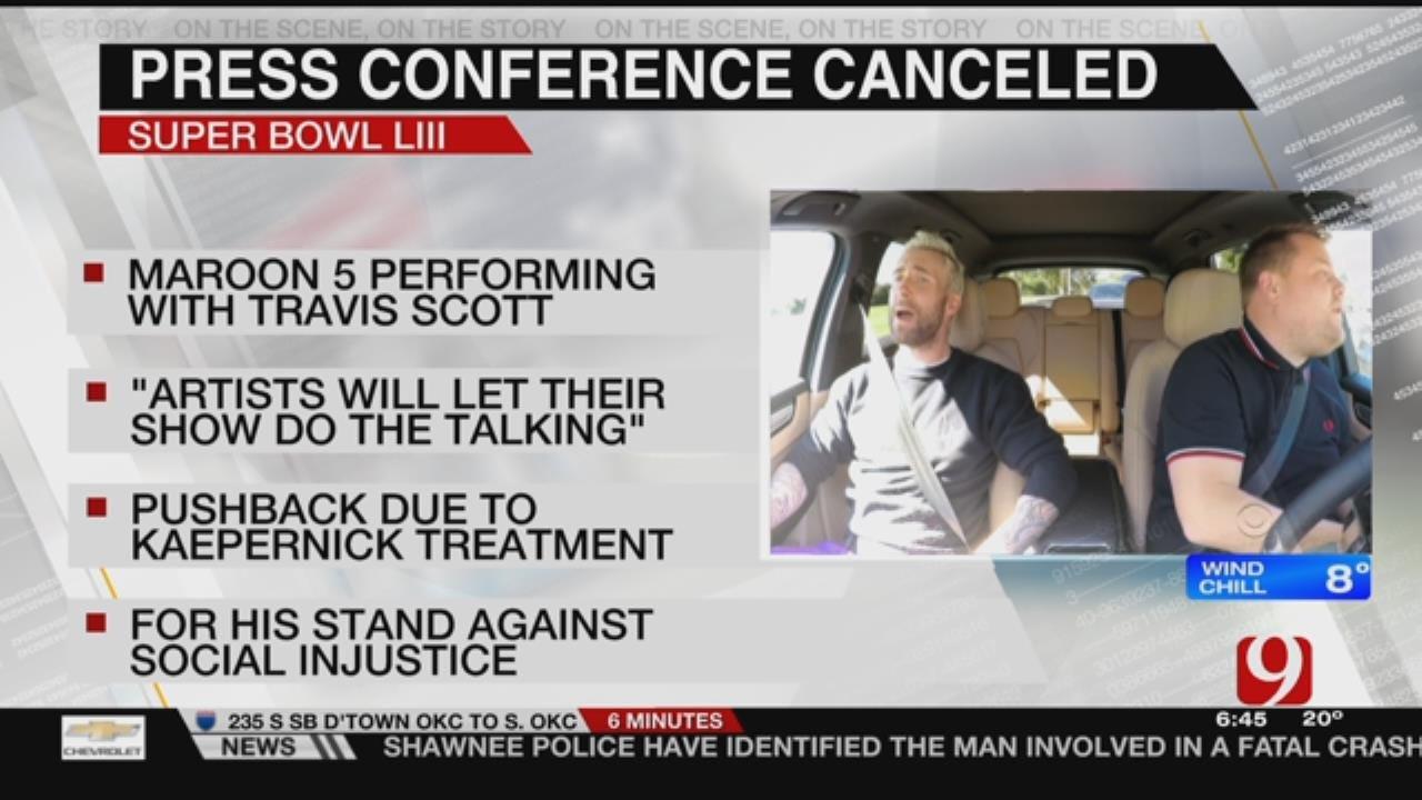 NFL Cancels Maroon 5 Pre Super Bowl Press Conference