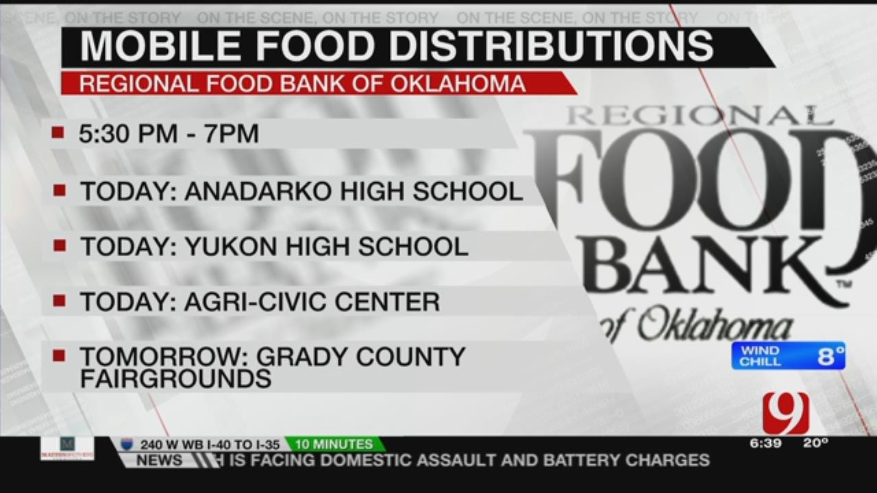 Regional Food Bank Providing Mobile Food Distribution For Furloughed Workers